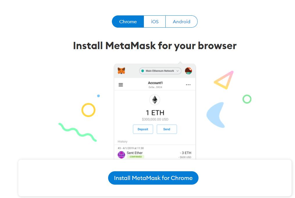 MetaMask download page