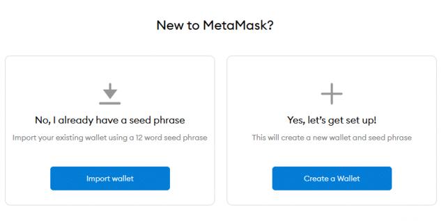 MetaMask creating new wallet